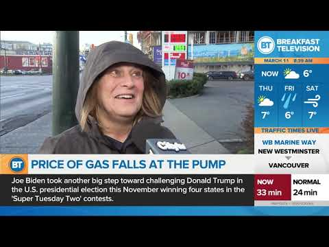Gas Prices Fall 8 Cents A Litre Across Canada