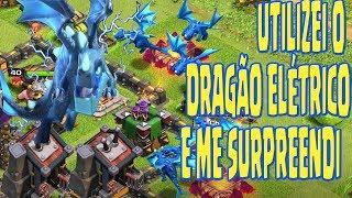 Utilizei pela primeira vez o dragão elétrico e me surpreendi/Clash of Clans