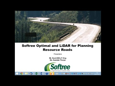 Softree Optimal and Lidar for Planning Resource Roads