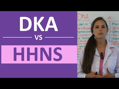 DKA and HHS (HHNS) Nursing | Diabetic Ketoacidosis Hyperosmolar Hyperglycemia Nonketotic Syndrome