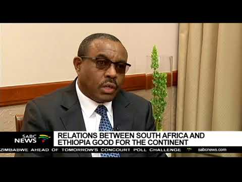 Relations between SA, Ethiopia good for the continent: Desalegn
