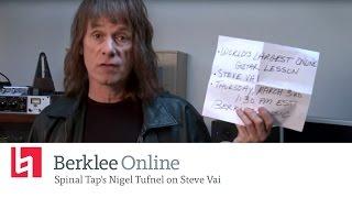 Spinal Tap's Nigel Tufnel on Steve Vai
