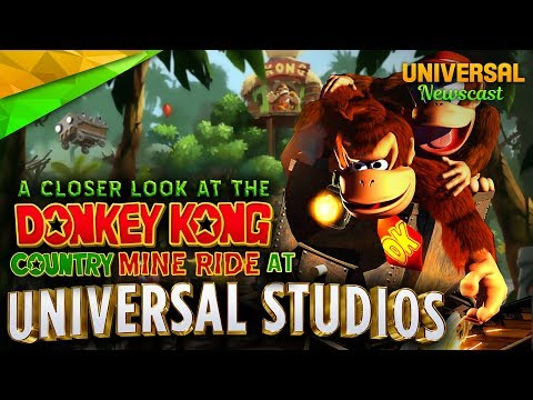 Donkey Kong Country Mine Ride - Universal Studios News 08/30/2017