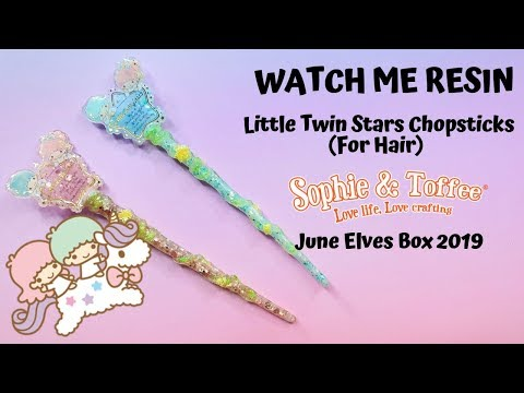Watch Me Resin - Little Twin Stars Chopsticks (For Hair) (Sophie and Toffee June Elves Box)