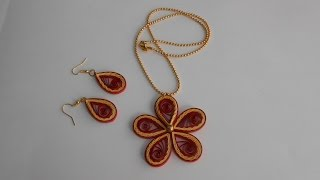 Quilling Crimped Multilayer Jewelry Set - Tutorial