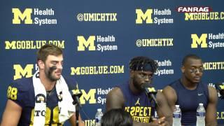 getlinkyoutube.com-Michigan Football:  Players' Press Conference Post 59-3 Win Over Maryland
