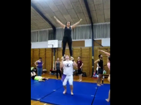 standing on hands - acrobatic skills