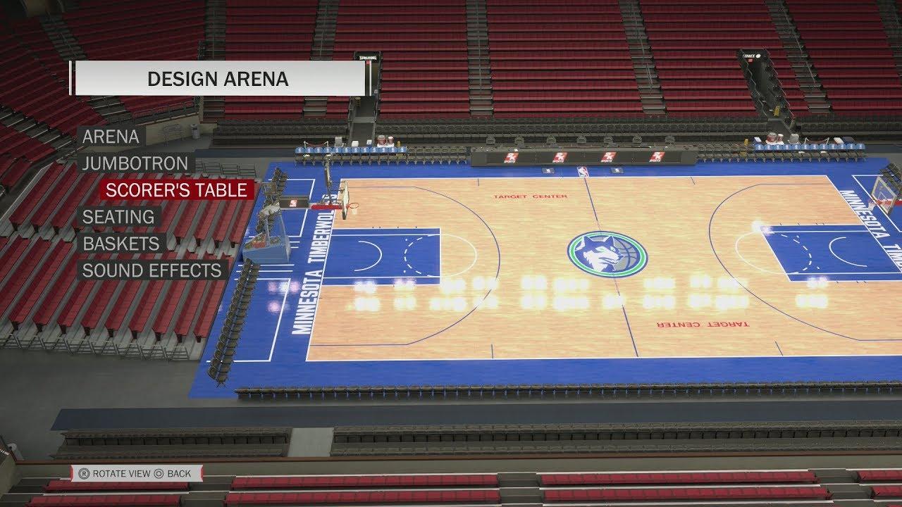 Nba 2k18 Arena Creation Minnesota Timberwolves 1990 1996