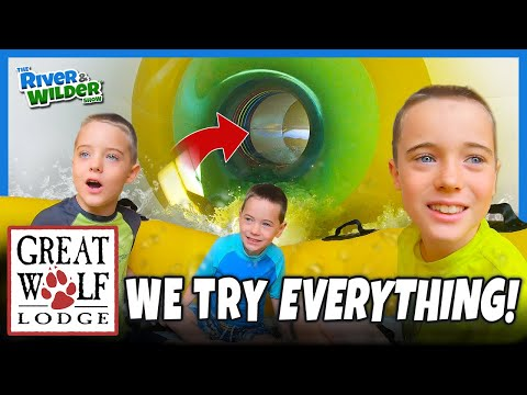 Kids try EVERYTHING at Great Wolf Lodge | Epic vacation!