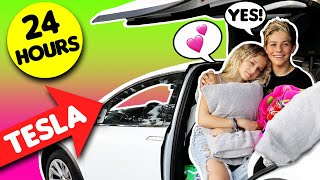 24 HOUR Overnight CHALLENGE In A CAR With My CRUSH *SHE SAID YES* 😰😍 | Walker Bryant