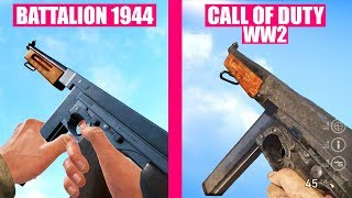 Call of Duty WW2 Gun Sounds vs Battalion 1944
