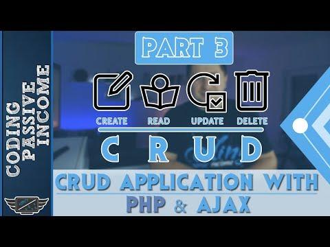 PHP Ajax CRUD Application Tutorial - MySQL & Bootstrap & jQuery DataTables  [Part 3] thumbnail