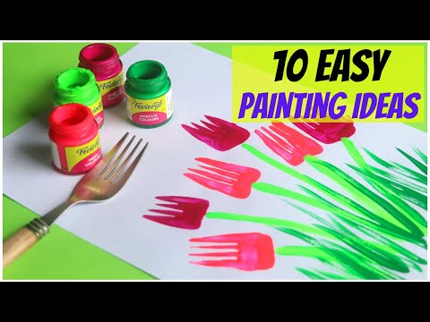 10-easy-painting-ideas-for-kids-|-amazing-painting-hacks-using-everyday-objects