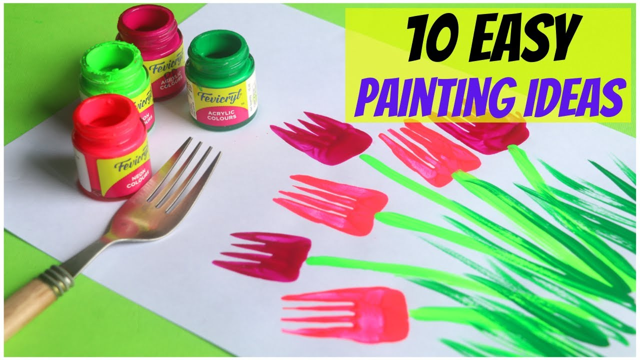 10 Easy Painting Ideas for Kids | Amazing Painting Hacks using Everyday Objects