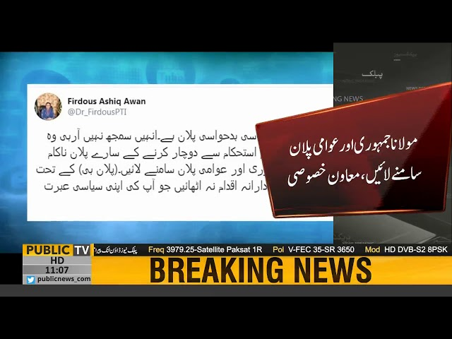 All plots to stoke instability in Pakistan will fail | Dr Firdous Ashiq Awan tweet