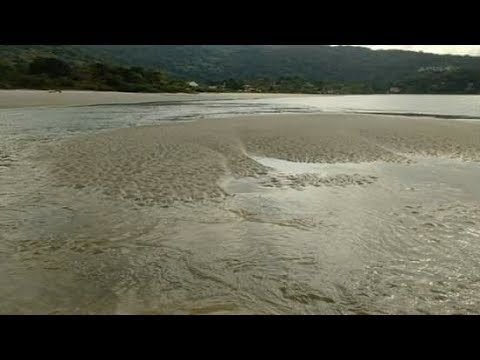 Water disappears from beach, Guaratuba, Brazil Explained - Increased  subduction during GSM