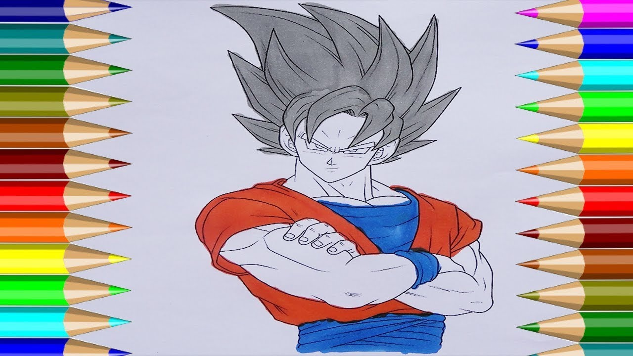 Libro Para Colorear Bola De Dragón Cómo Dibujar Son Goku Niños Dibujo Cp 4k