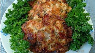 Куриные оладьи с сыром на кефире Chicken Pancakes with Cheese Recipe