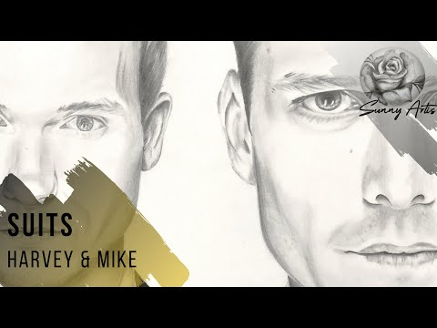 Harvey Specter & Mike RossSuits drawing