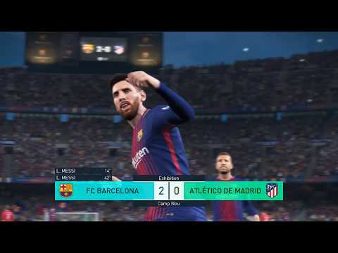 Pro Evolution Soccer 2018 (PC) MAX SETTINGS  FC Barcelona vs Atlético Madrid