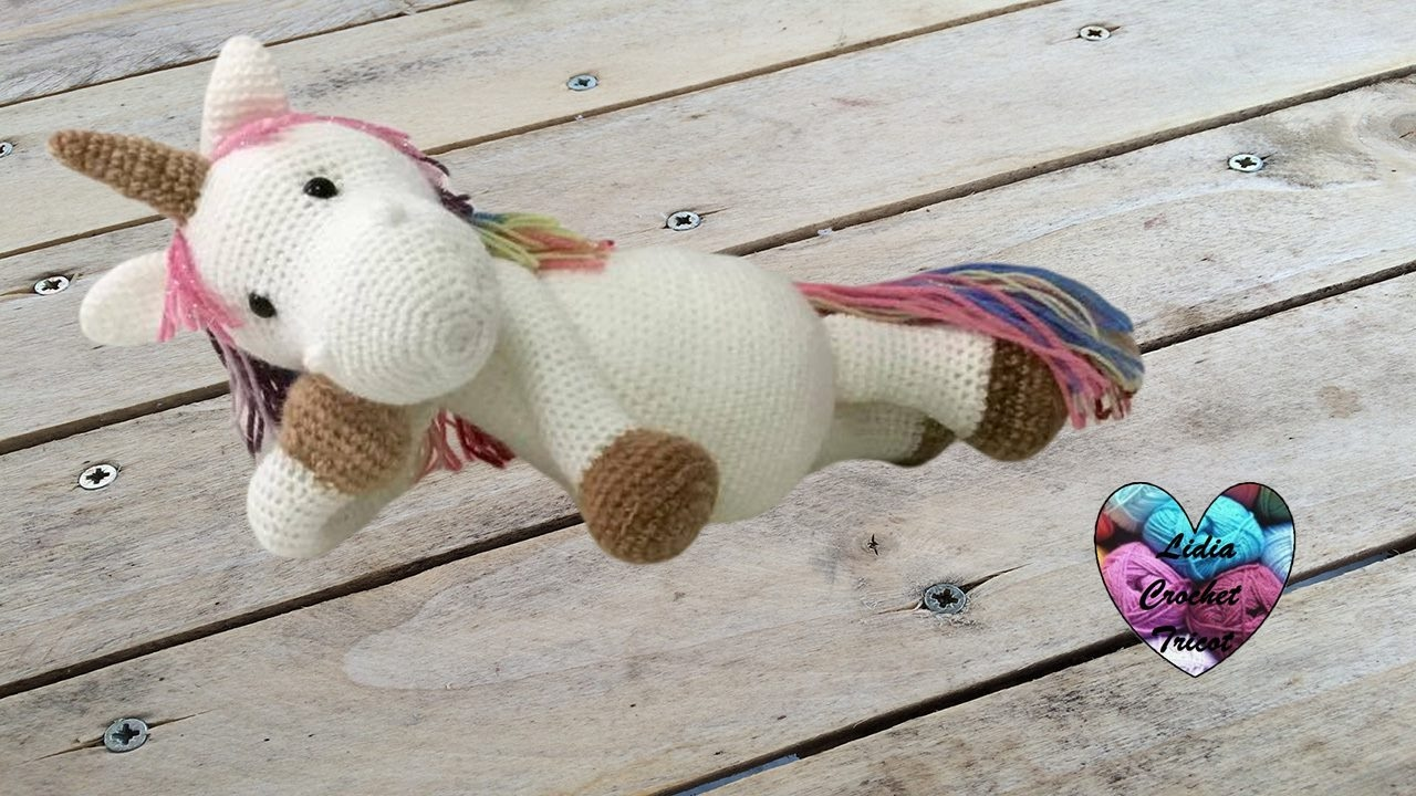 CROCHET PATTERN in English and Spanish - Mimi the Friendly Unicorn ... | 720x1280