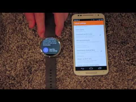 How to transfer song files onto moto 360 using google play android wear app