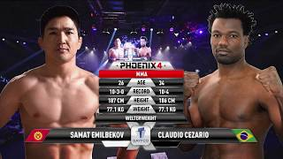 Samat Emilbekov vs Claudio Cezario Full Fight (MMA) | Phoenix 4 Dubai | December 22nd 2017.