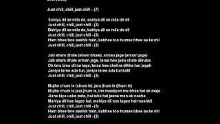 Just Chill Original Karaoke (Chours) with Lyrics