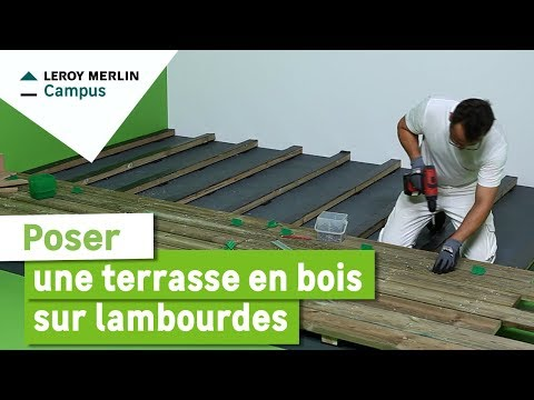 Comment poser une terrasse en bois sur lambourdes ? Leroy Merlin