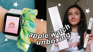 apple watch unboxing + set up!
