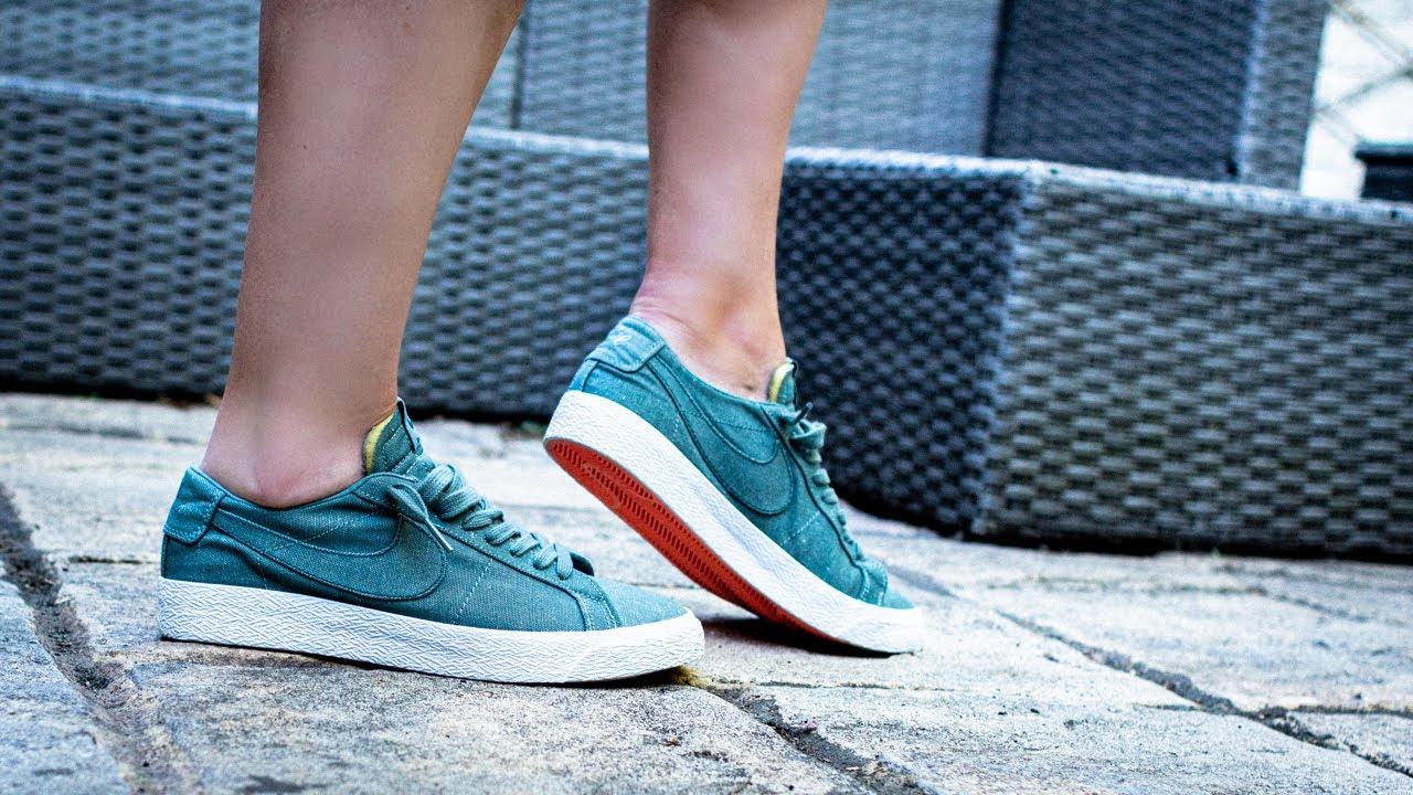 Tener un picnic vestíbulo champú  DECON - Nike SB Zoom Blazer Low Canvas Deconstructed Sneaker Unboxing -  YouTube