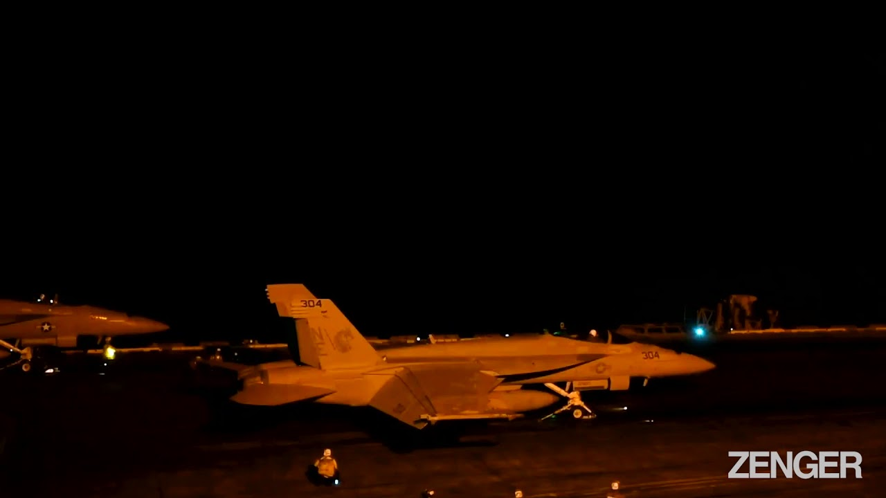 US Carrier's Nighttime Air Strike Drills Send A Warning To China