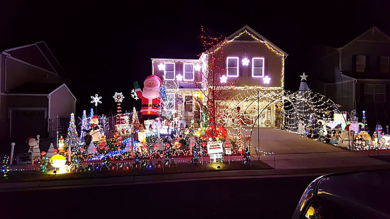 Sidewalk Christmas Lights