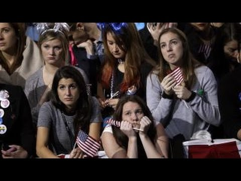 Clinton supporters react to Trump's presidential victory