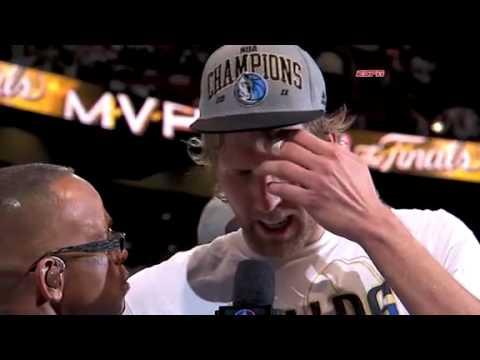 Dirk Nowitzki wins the Bill Russell NBA Finals MVP Award