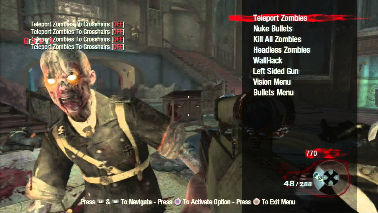 Call of Duty Black Ops Zombies 1 13 Mod Menu PS3 [Gr3Zz V3]+[DOWNLOAD]