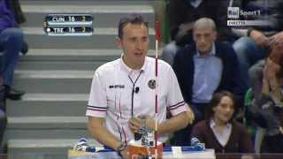 11-04-2013: Azioni finali gara2 semifinale con video check Play Off Cuneo-Trento