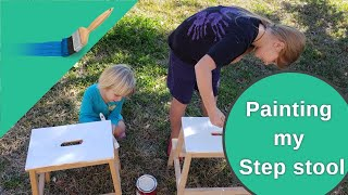 Красим детский стул СВОИМИ РУКАМИ | We paint a kid's chair