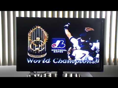 Sega genesis world series baseball montreal expos champions