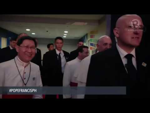 Brandon Blessed By Pope Francis MOA Jan 16, 2015