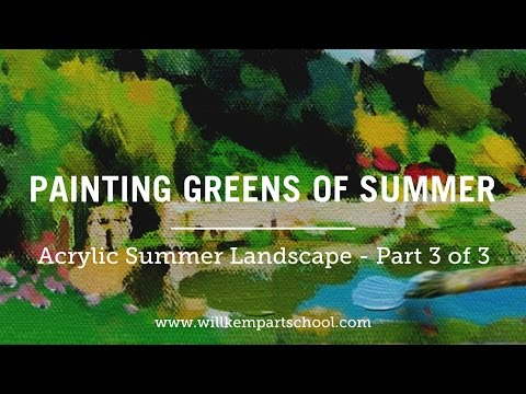 How to Paint Green Summer Trees with Acrylics – Part 3 of 3
