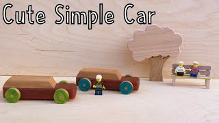 How To Make A Simple Cute Wooden Car - Toys For Charity