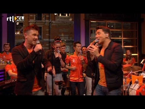 WKlied Johnny de Mol en Jan Smit  RTL LATE NIGHT