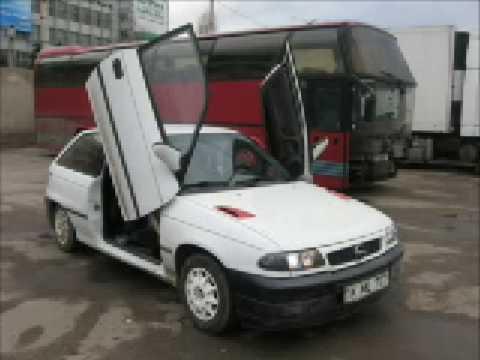 & Opel Astra lambo-doors instalation - YouTube Pezcame.Com