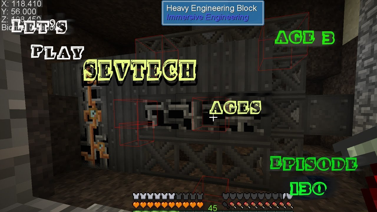 Minecraft Sevtech Ages Episode 130: Starting Construction on the Excavator!