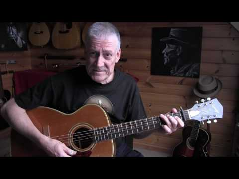 "daddystovepipe plays and talks about his ""Harmony Sovereign"" The Mance Lipscomb guitar"