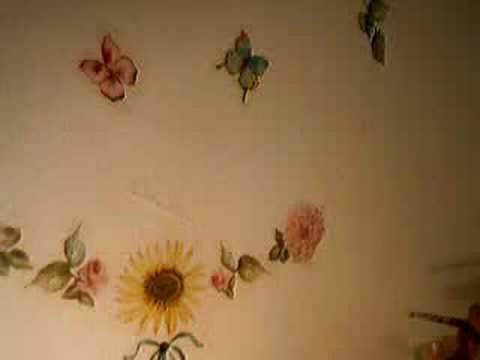 pitturare cornice brillantini : ... : Come decorare un muro con i brillantini utilizzando uno stencil