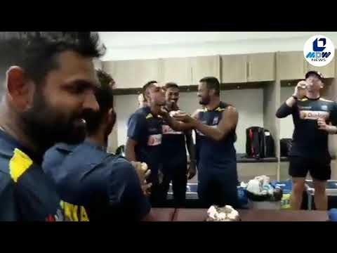 RAW Video: SL Sports Minister sends cake for Cricket team celebrations after Test win Vs SouthAfrica
