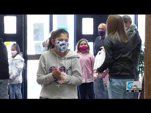 Pueblo students return to school