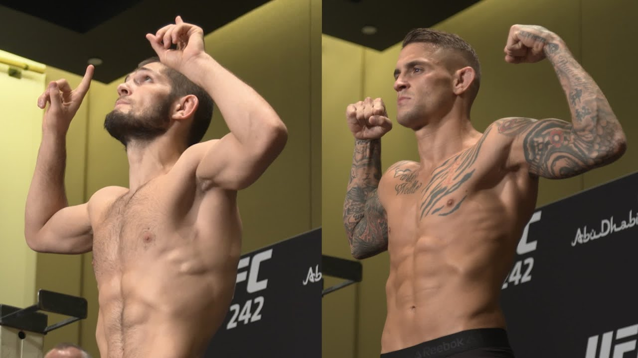 Khabib and Poirier make weight ahead of UFC 242 main event